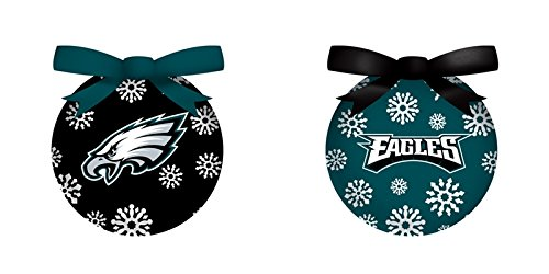(Philadelphia Eagles Official NFL LED Box Set Ornaments by Evergreen Enterprises)