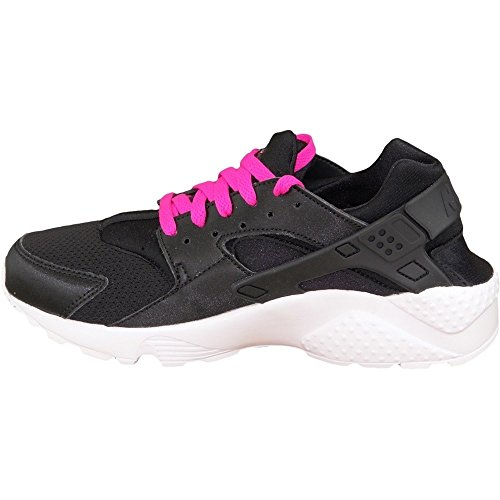 detailed look 81a2b 8d74c Nike Unisex-Kinder Huarache Run (GS) Shoe Sneaker Black (Schwarz   Weiß ...