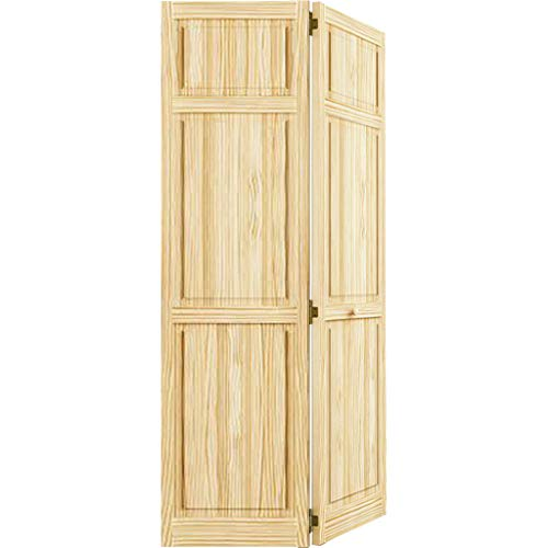 Bi-fold Door, Six-panel Style Solid Wood (80x36)