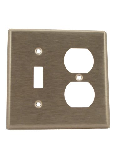 Leviton 84005 Combination Wallplate Stainless