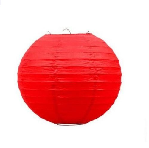 "UPC 700424211821, 12 PCS Red Chinese/Japanese Paper Lantern/Lamp 12"" Diameter - Just Liroyal Brand"