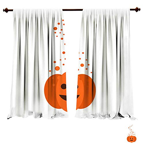 Panels Sun Blocking Curtains Magic Pumpkin for Halloween Window Drapes for Kitchen Cafe
