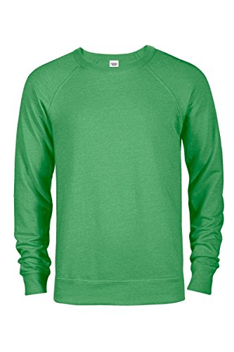 Casual Garb Men's Crew Neck Sweatshirts French Terry Crewneck Sweatshirt Men Kelly Heather X-Small