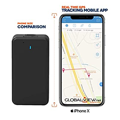 Small Hidden Magnetic GPS Car Tracking Device with Software (1 Month Battery) - Vehicle GPS Tracker - Subscription Required: GPS & Navigation