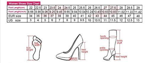43 Fashion Shoes Boots Female Marfil Metal Women 34 Zipper Buckle Size Haoliequan High Round Woman Footwear Toe Knee Heel wqCnE6