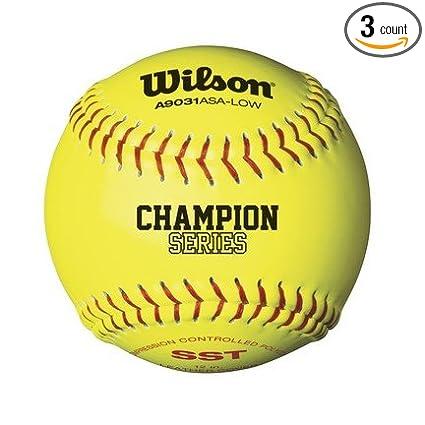 Wilson A9231 Super Seam Technology ASA Softballs from Case of 3 Dozen