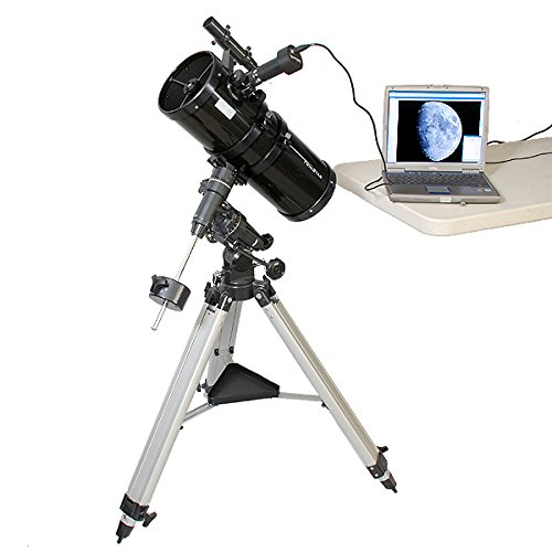 Black AstroVenture 6'' Short Tube Reflector Telescope with Digital USB Camera by Twin Star