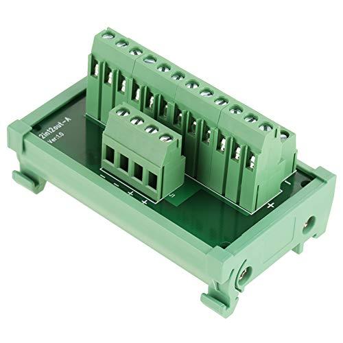DIN Rail Module, 12 Position Power Distribution DIN Rail Mount Interface Module Breakout Board