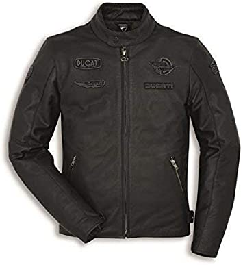 Ducati Heritage C1 Chaqueta de Cuero para Hombre Negro - 54