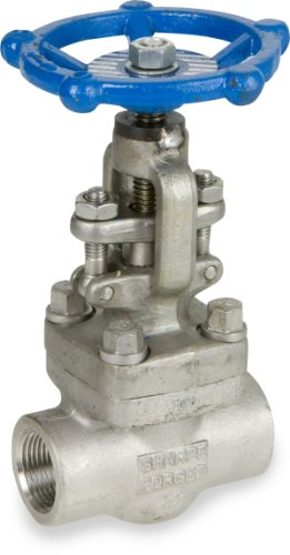Sharpe Valves 44836 Series Stainless Steel 316L Globe Valve, Bolted Bonnet, Inline, Hand Wheel, 1