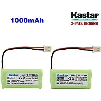 Kastar 2-PACK AAAX2 2.4V 1000mAh 5264 Ni-MH Rechargeable Battery for BT-166342 BT-266342 BT-283342 AT&T EL51100 EL51200 EL51250 EL52200 EL52210 EL52250 EL52300 EL52350 EL52400 EL52450 EL52500 EL52510