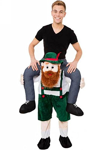 Fancy Dress Costumes For Christmas (Adult Costumes Riding on Shoulder Fancy Dress Mascot Costume For Christmas (Bearded))