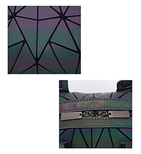 Large Bag Fabric Crossbody Folding Geometric Bag Luminous Shoulder Capacity Fashion Matte Luminous wZnB48Sqq
