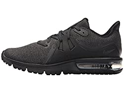 Nike Women Air Max Sequent 3 Running Shoe, Size 10, Blackanthracite