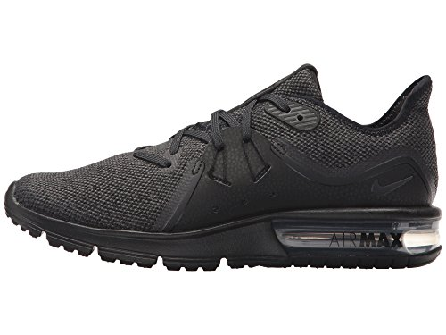 Nike Dames Air Max Sequent 3 Loopschoen Zwart / Antraciet