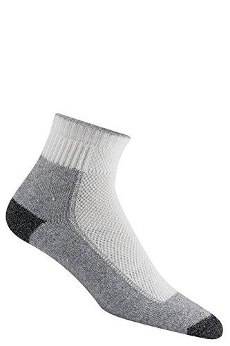 Wigwam Men's Cool-Lite Hiker Pro Quarter Socks, White/Pewter