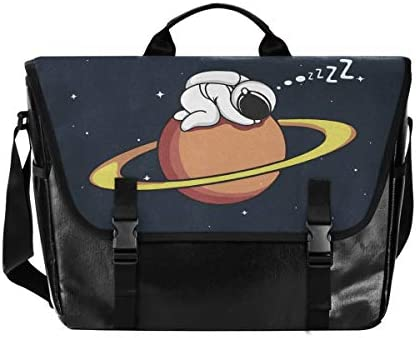メッセンジャーバッグ メンズ 宇宙人柄 星空 惑星柄 斜めがけ 肩掛け カバン 大きめ キャンバス アウトドア 大容量 軽い おしゃれ