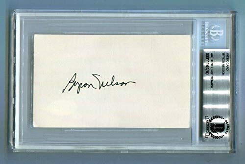 - Byron Nelson Autographed Signed Memorabilia Index Card 3X5 Autographed Signed Memorabilia Pga Golf - Beckett Authentic