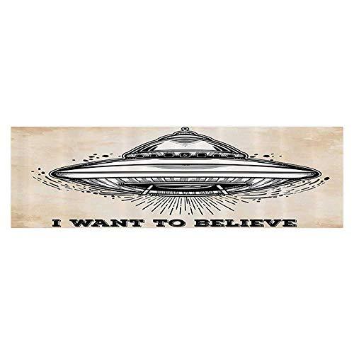 UHOO2018 Aquarium Background Alien Roller Flight with Lieve Quote Retro Mystery ntasy Symbol Wallpaper Sticker Background Decoration 29.5