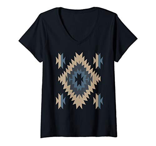 (Womens Native American Indian Tribal Design Pattern V-Neck)