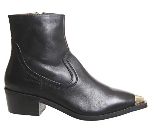 Western Boots Acoustic Office Metal Black Leather Toe AxIptq