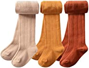 CHUNG Toddler Little Girls Cotton Tights Footed Thick Winter Cable Knit Legging
