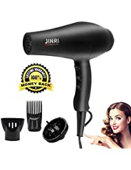 Hair Dryer with Diffuser,JINRI Hair Dryers 1875W Hairdryer...