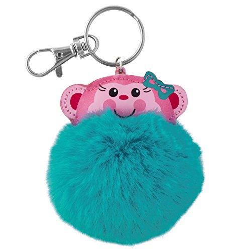 Stephen Joseph Pom Pom Critter Key Chains, Monkey