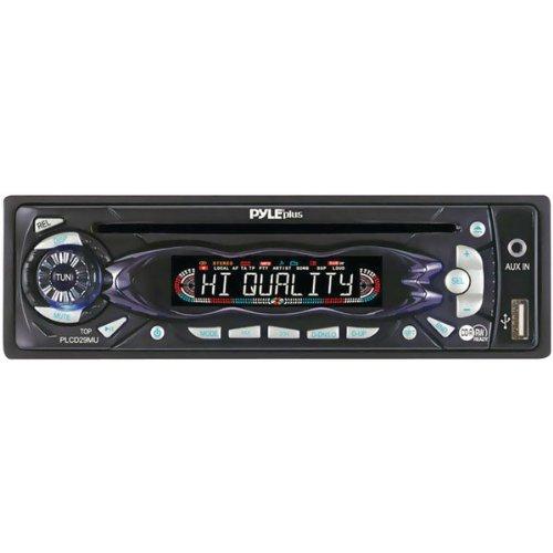 PYLE PLCD29MU AM/FM Receiver Auto Loading CD/MP3 Player with USB (190e Shock)