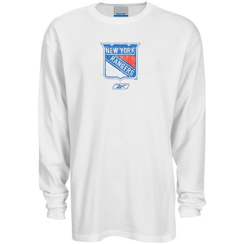 NHL Reebok New York Rangers Frost Bite Long Sleeve Thermal - White (Medium)