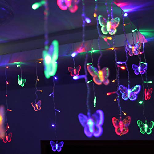 B bangcool 96 Butterfly LED String Lights, 11.5ft Waterproof Decorations Light Decor for Indoor/Outdoor Christmas, Birthday, Holiday, Valentine Wedding Decoration -
