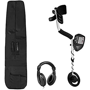 American Hawks Explorer II Metal Detector LCD Screen | Display Type of Object & Depth | Waterproof Search Coil Headphone Carry Bag | Gold Silver Bronze ...