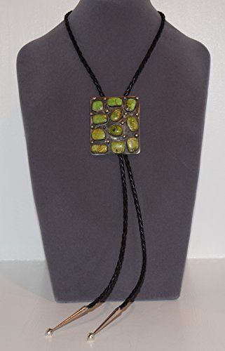 FROM THE VAULT Eleven Stone Gaspeite Navajo Bolo Tie for sale  Delivered anywhere in USA