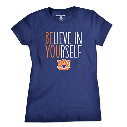 College Kids NCAA Auburn Tigers Girls Short Sleeve Tee, Size 7/X-Small, Navy