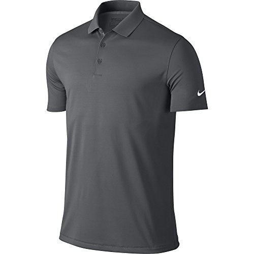 Nike Golf Victory Solid Polo (Dark Grey/White) L