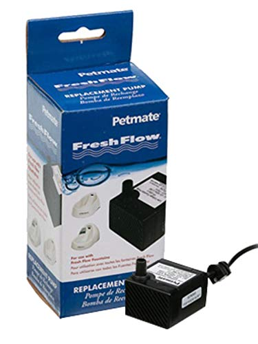 - Petmate Fresh Flow Deluxe Replacement Pump 120V - Easy Install - AC Adapter and Cord Included