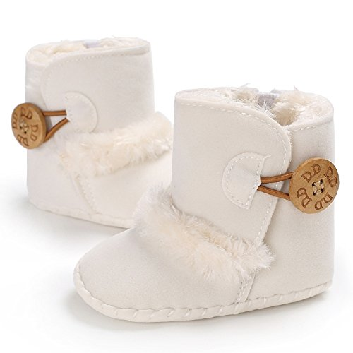 Image of Meeshine Winter Warm Baby Boots Premium Soft Sole Prewalker Newborn Infant Boy Girl Crib Shoes Snow Boots