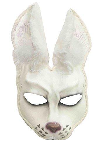 [Forum Novelties Men's Rabbit Animal Mask, White, One Size] (Male Bunny Costumes)