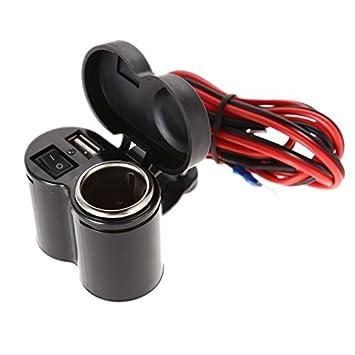 Cargador USB Encendedor de Cigarrillos para Moto Scooter ...