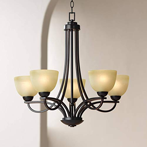 Bennington 26 Wide 5-Light Italian Bronze Chandelier – Franklin Iron Works