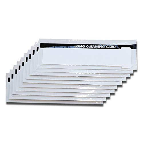 (Enduro+/Rio Pro Printer Cleaning Cards, Pack of 10 pcs Long T-Card CK-M9005-771/R)