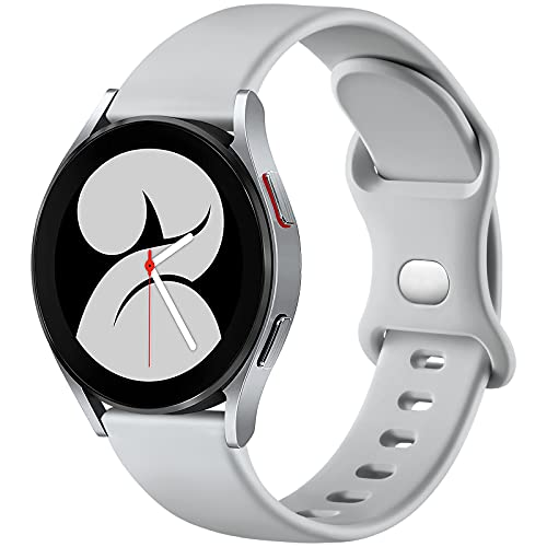 malla de silicona para samsung watch 4 gris talle L