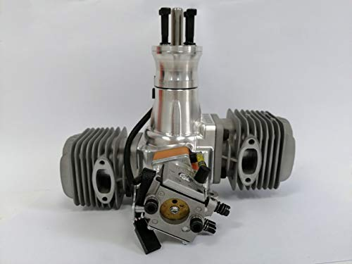 RC Airplane Gas Enging DLA 64CC Gasoline Engine Twin Box in line Cylinder w/Ignitron & Muffler for RC