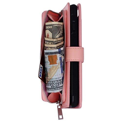 Galaxy S7 Carcasa, Vandot Diamante PU Leather Cuero Cobertura Bookstyle Wallet Cubierta Caja Glitter Bling Diamond Carcasa Con [Flip Case Cover] [Cierre Magnético] [Función de Soporte] [Billetera con  KCX 05