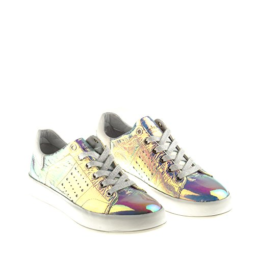 Multicolore Véritable avec Felmini Chaussures B017 Tomber en Femme Cuir Amour Multicolore Baskets Trump wRv7XRqx