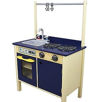 Blue Wooden Play Kitchen