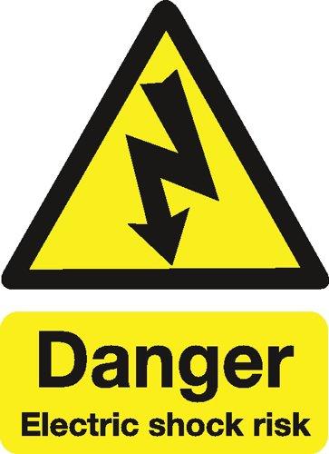 (Stewart Superior Safety Sign Danger Shock Risk 200x150mm Self-adhesive Vinyl Ref)