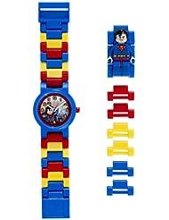 LEGO Watches and Clocks Boy's 'DC Universe Super Heroes Superman Minifigure' Quartz Plastic Casual Watch, Color:Blue (Model: 8020257)