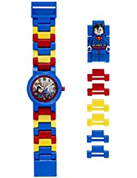 DC Comics 8020257 Super Heroes Superman Kids Minifigure Link Buildable Watch | blue/red | plastic | 25mm case diameter| analog quartz | boy girl | official