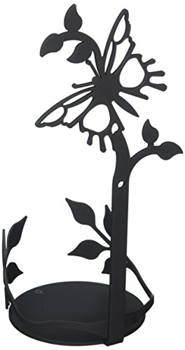 Village Wrought Iron 9.75 Inch Butterfly Large Jar Sconce - Butterfly Tealight Candle